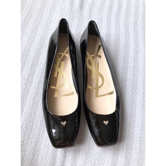 d0ebddd3573 Yves Saint Laurent Shoes | Patent Leather Ballet Flats | Poshmark